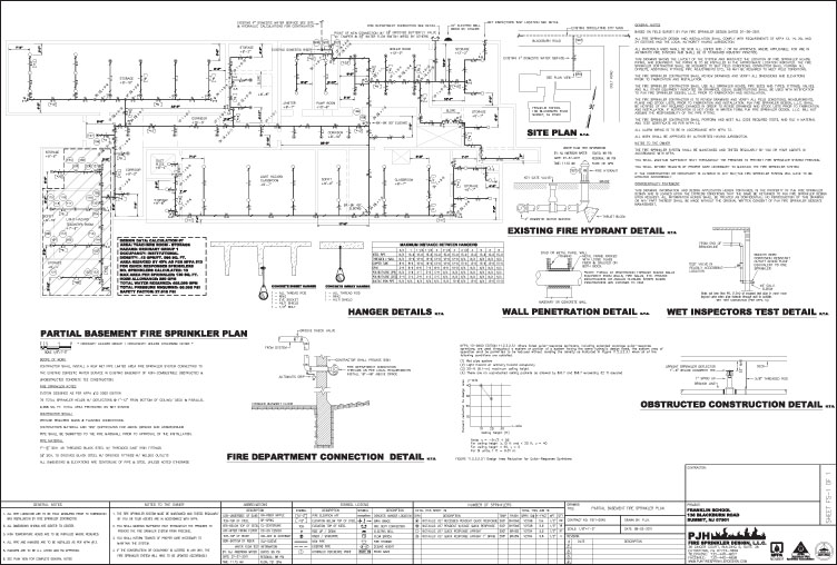 PJH Fire Sprinkler Design, L L C  | Sample Drawings