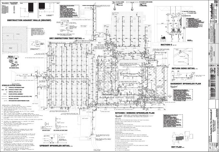 PJH Fire Sprinkler Design, L L C  | Sample Drawings